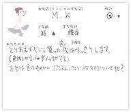M.Kさん 36歳 男性
