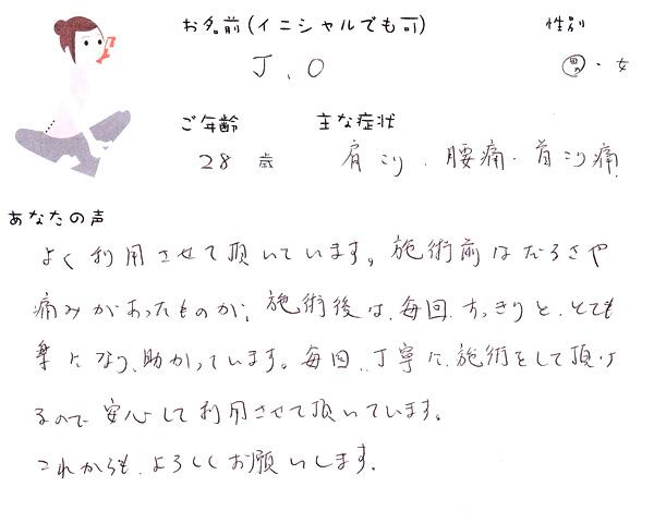 J.Oさん 28歳 男性