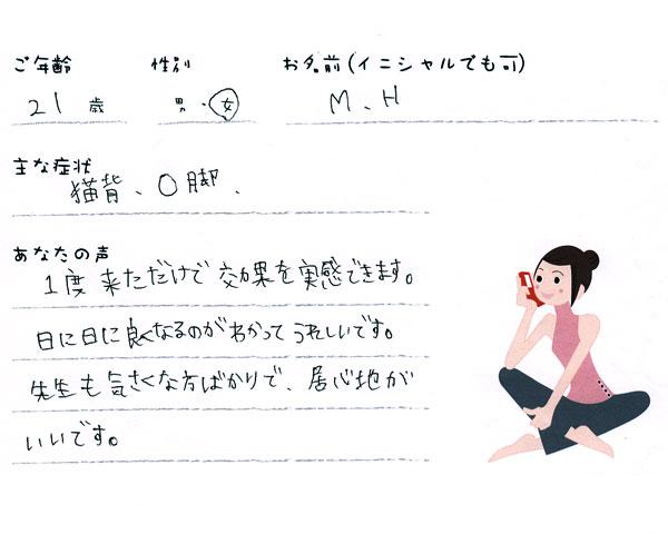 M.Hさん 21歳 女性